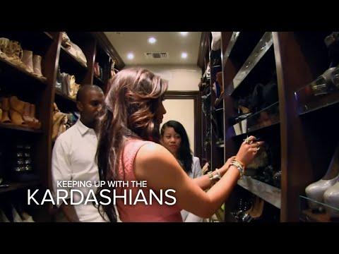 Kuwtk  Kanye Raids Kim's Closet  E!