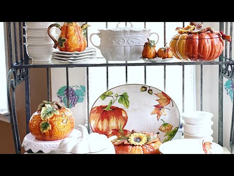 🍁🍁🍂 FALL DECORATE WITH ME| BAKERS RACK🍁🍁🍂