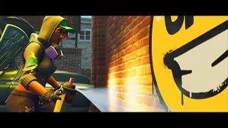 Graffiti Challenge in Fortnite