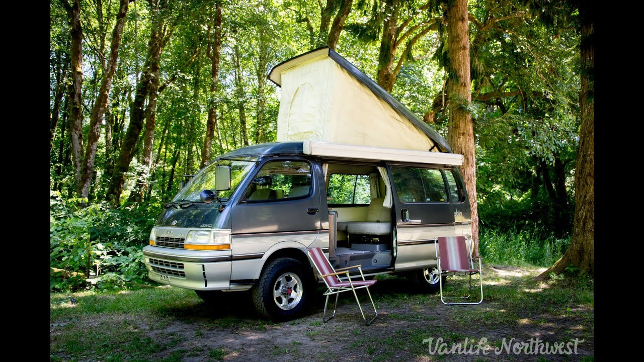 Sale review 1991 toyota hiace cruising cabin 4wd pop top for Cabin a camper for sale