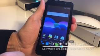 ZTE OBSIDIAN / Z820 NETWORK UNLOCK USING FURIOUSGOLD