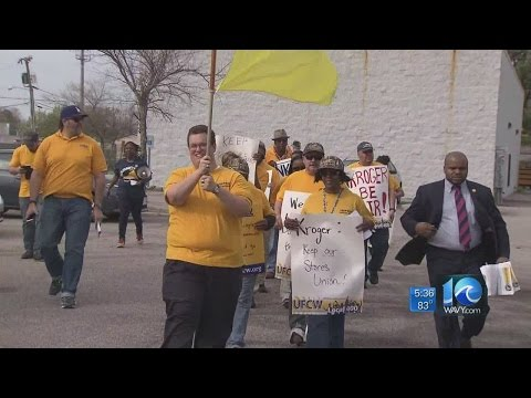 Andy Fox on Kroger union employee protest