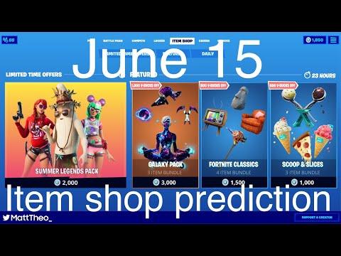 Fortnite item shop prediction June 15 |