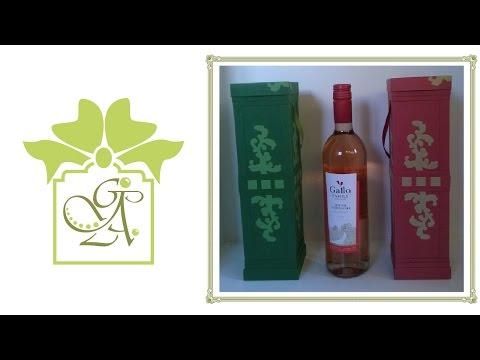 Wine Bottle Box or Wine Bottle Holder ©  (An A4 Card Gift Box Tutorial)