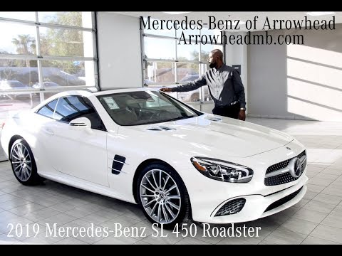 The Iconic 2019 Mercedes-Benz SL 450 Roadster review. For Sale from Mercedes Benz of Arrowhead