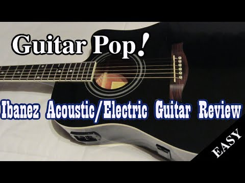 Ibanez Acoustic Electric Guitar Black Review Youtube