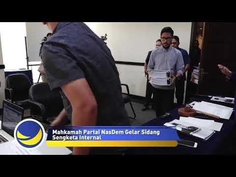 Mahkamah Partai NasDem Gelar Sidang Gugatan Internal