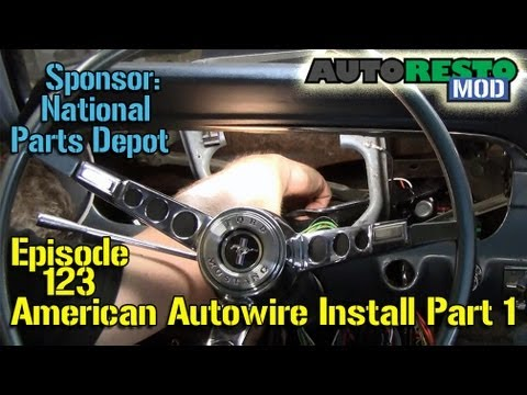 1965 Mustang Headlight Wiring Diagram 2003 Nissan Frontier American Autowire Installation 65 Part 1 Episode 123 Autorestomod Youtube