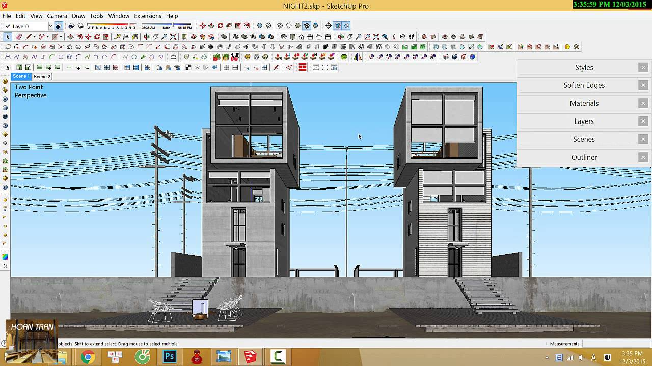 vray for sketchup making of 4x4 house tadao ando part. Black Bedroom Furniture Sets. Home Design Ideas