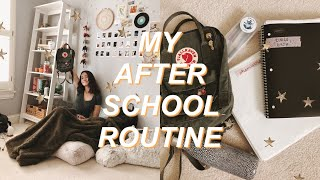 my after school night routine 🍂