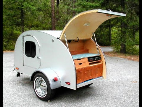 Teardrop Camping on the Open Road with Tiny Trailer YouTube