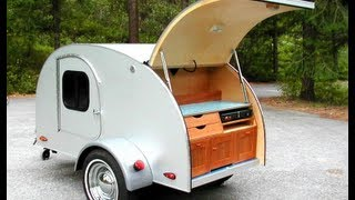 Teardrop Camping on the Open Road with Tiny Trailer