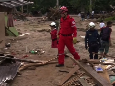 Raw: Cleanup Underway in Columbia After Flooding