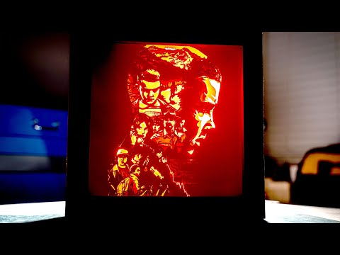 Laser Cutting Eleven's Head From Stranger Things (DIY Lightbox)