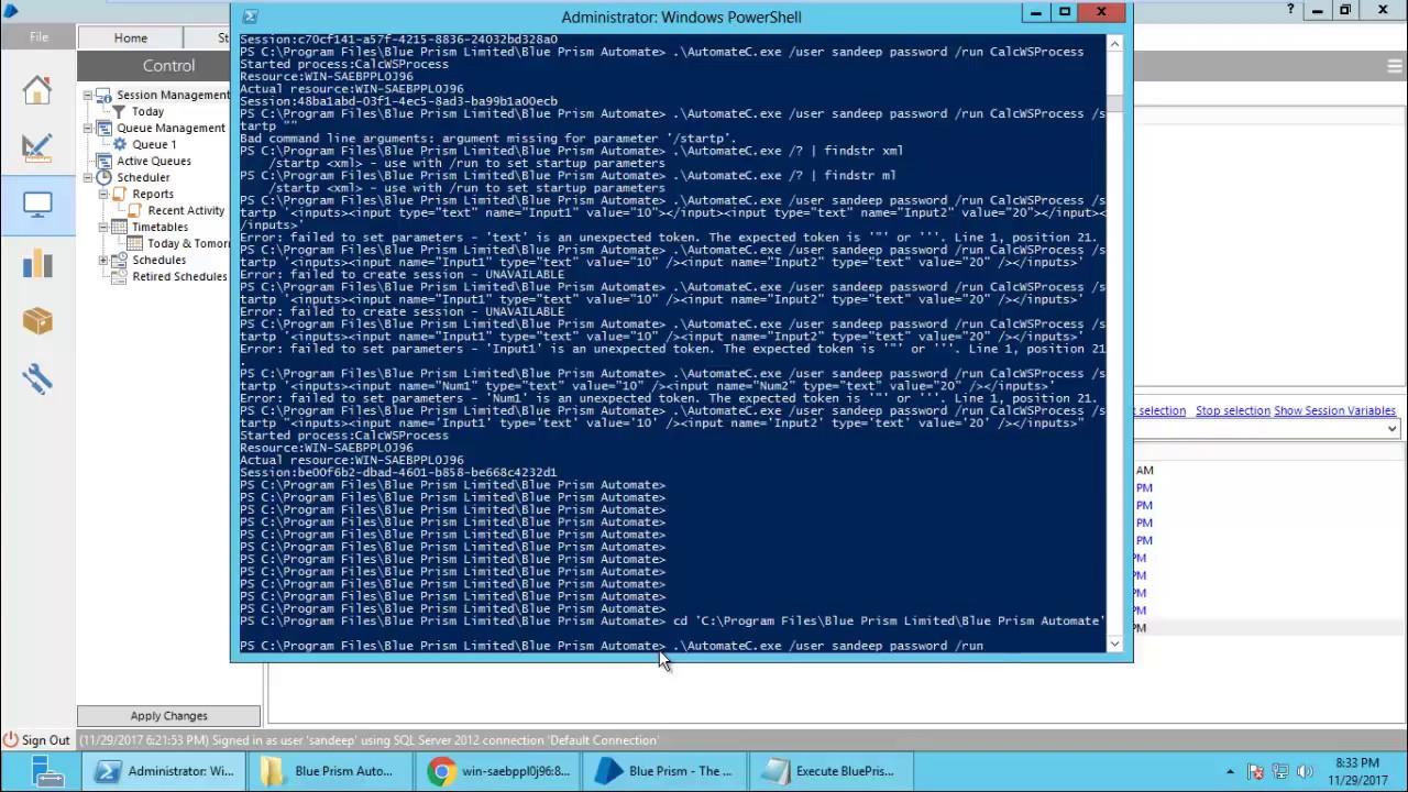 execute powershell script from python script