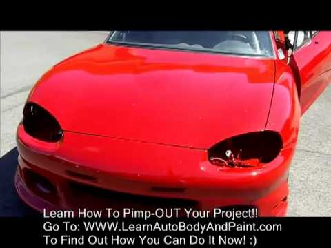 How To Paint Install Body Kit Custom Painting A Car From Home Garage Youtube