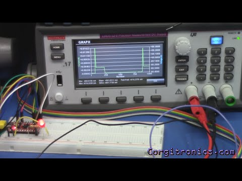 Power use of an Arduino and nRF24L01 using a Keithley 2208S