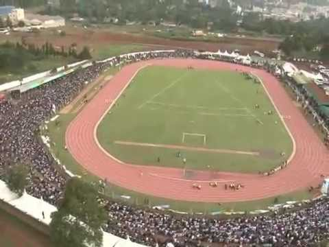 AERIAL VIEW OF OLYMPICS TRIAL AT KIPCHOGE STADIUM