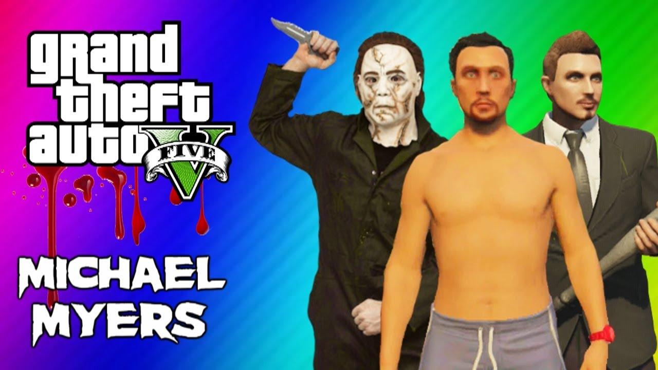 GTA 5 Online Maze Murderer - Michael Myers Mini Game FUN ... Funny Games Online Gta5