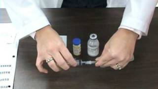 reconstitution of a powdered medication