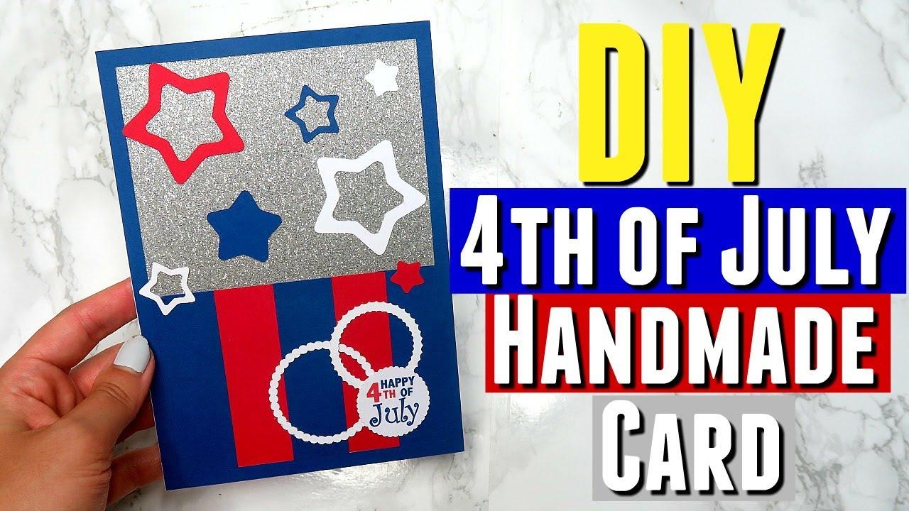 diy handmade 4th of july card using silhouette cutting machine diy