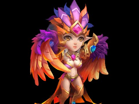Castle Clash LVL 200 Double Evolved Harpy Queen!