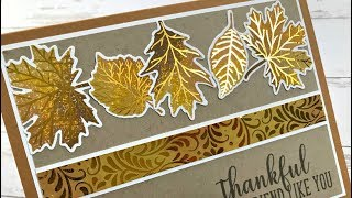 Stamp-n-Foil - Thankful Leaves