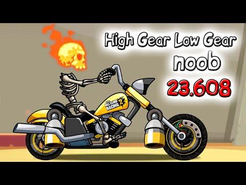 Hill Climb Racing 2 High Gear Low Gear пробные 3 заезда на 23.608 баллов