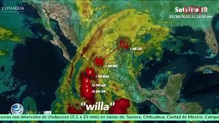 Huracán Willa sube a categoría 5 y amenaza al pacífico mexicano
