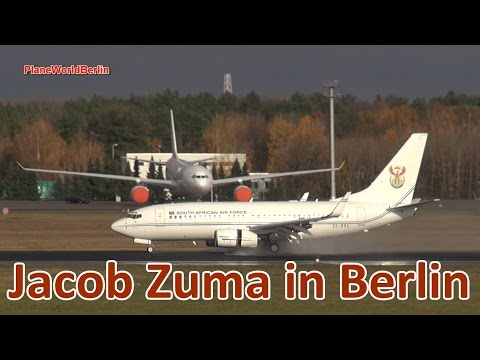 Jacob Zuma (President of South Africa) arrives in Berlin