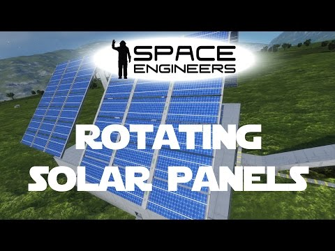 Space Engineers Planet Survival Ep 17 - Rotating Solar Panels That Follow The Sun