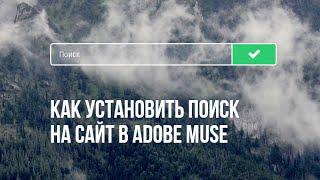 Устанавливаем поиск на сайт в Adobe Muse