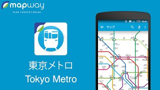 Tokyo Metro on Android - Mapway