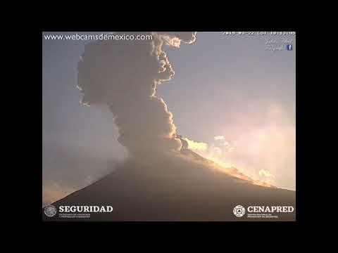 22 Marzo Explosión Popocatépetl esta tarde