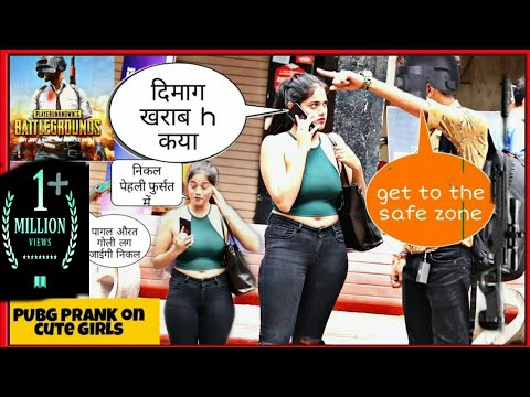 PUBG Prank In Public || PUBG Prank On Cute Girls || Pranks In India || SAHIL KHAN Production
