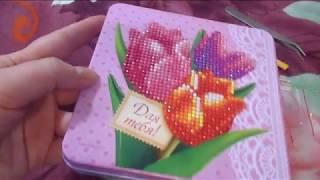 Шкатулка с алмазной мозаикой: обзор и готовая работа