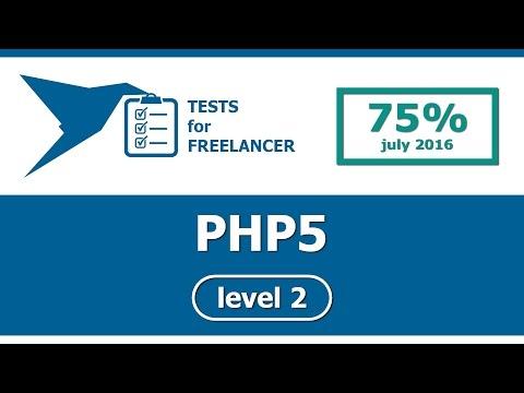 Freelancer - PHP5 - level 2 - test (75%)