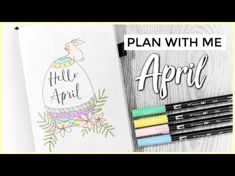 PLAN WITH ME APRIL🐰🌸 - Bullet Journal Suomi 2019