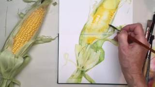 5minutewatercolour Demonstration Sweetcorn