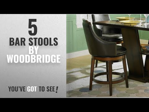 Top 10 Woodbridge Bar Stools [2018]: Bayshore Swivel Counter Height Chair [Set of 2]