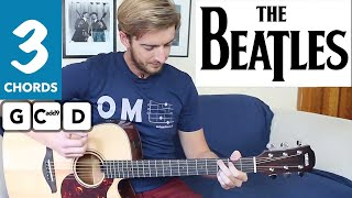 Love Me Do The Beatles EASY Guitar Tutorial - 3 Chord Song!