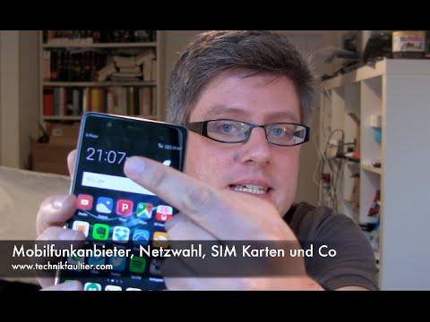 Mobilfunkanbieter, Netzwahl, SIM Karten Und Co
