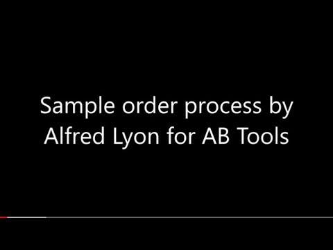 Sample Order Process at AB Tools, Inc.
