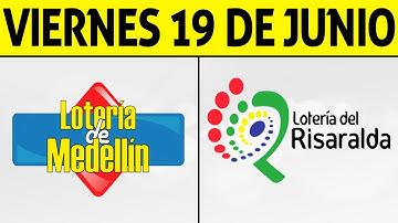 Resultados Lotería de MEDELLIN y RISARALDA Viernes 19 de Junio de 2020 | PREMIO MAYOR 😱🚨💰
