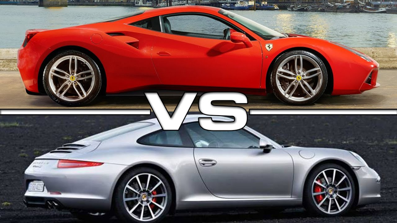 2016 ferrari 488 gtb vs 2016 porsche 911 carrera youtube. Black Bedroom Furniture Sets. Home Design Ideas