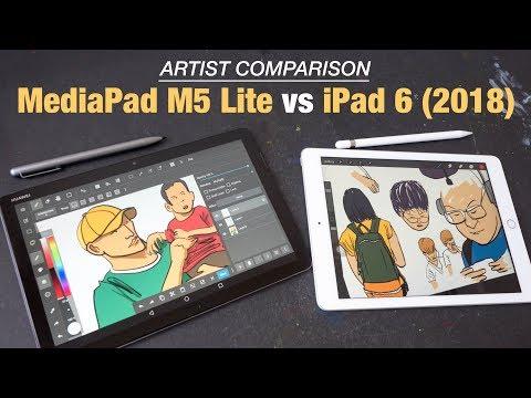 Huawei MediaPad M5 Lite Vs IPad 2018 (Artist Comparison)