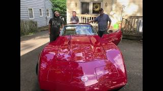 Surprising my Dad with his Dream car a 1973 Corvette!