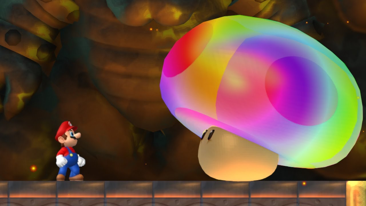 New Super Mario Bros Wii Final Boss Evil Rainbow Mushroom
