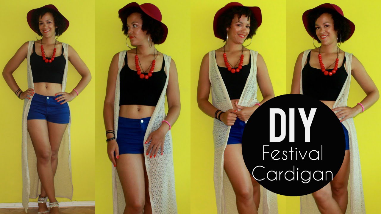 How To Make a Festival Cardigan | Coachella Outfit Ideas - YouTube
