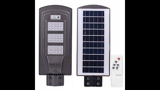 Lampa uliczna solarna 60W czujnik ruchu